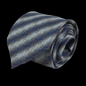 """CANALI blue and gold woven silk tie 3.5"""" x 58"""""""